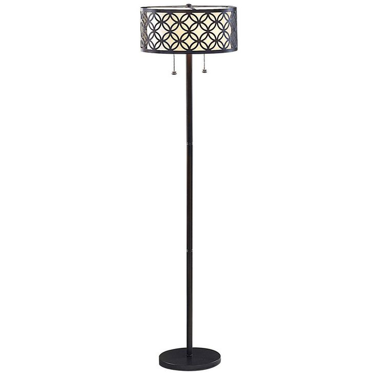 Shop Allen Roth Earling 63 In Oil Rubbed Bronze Indoor Floor Lamp With