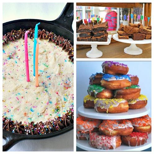Alternatives to a Traditional Birthday Cake. From the PartySavvy Blog
