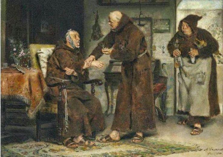 Άρρωστος μοναχός 1880