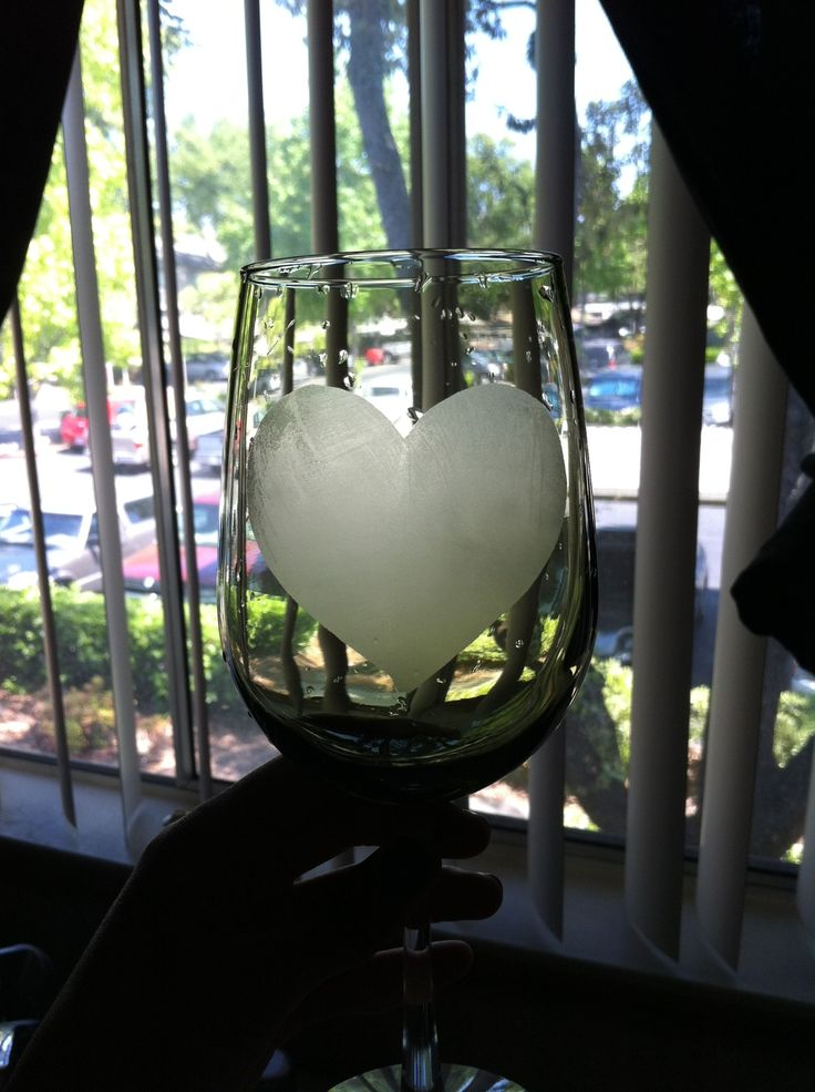How to Etch a Wine Glass