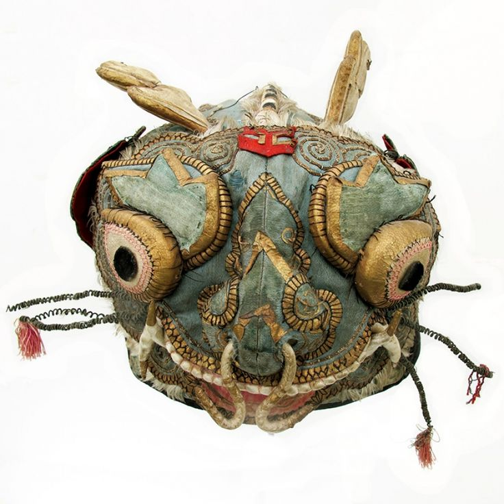 564 Ancient Silk Horned Dragon Chinese Child's Hat