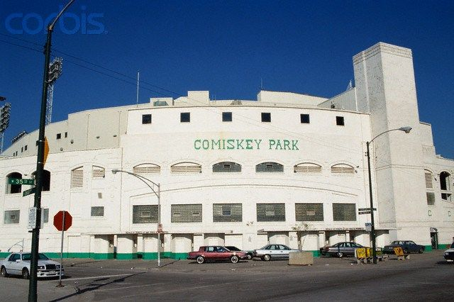 Comiskey Park - Outer walls painted white by Bill Veeck