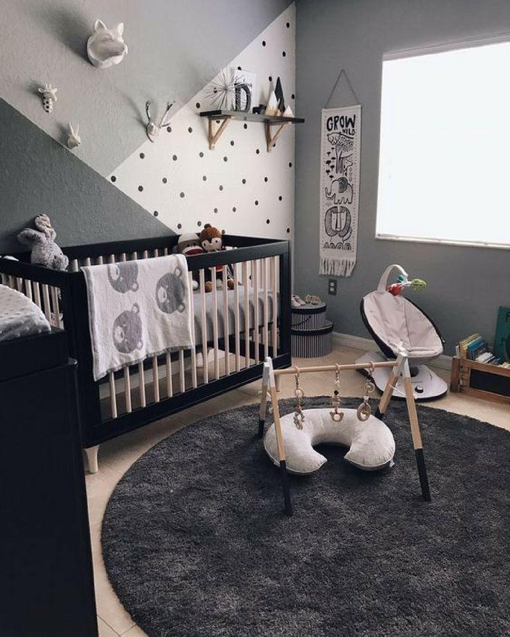 Quartos de bebê com misturas modernas e lúdicas