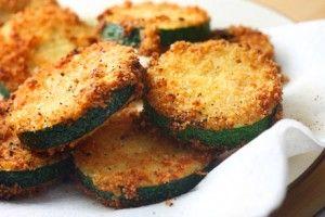 Panko Parmesan Fried Zucchini