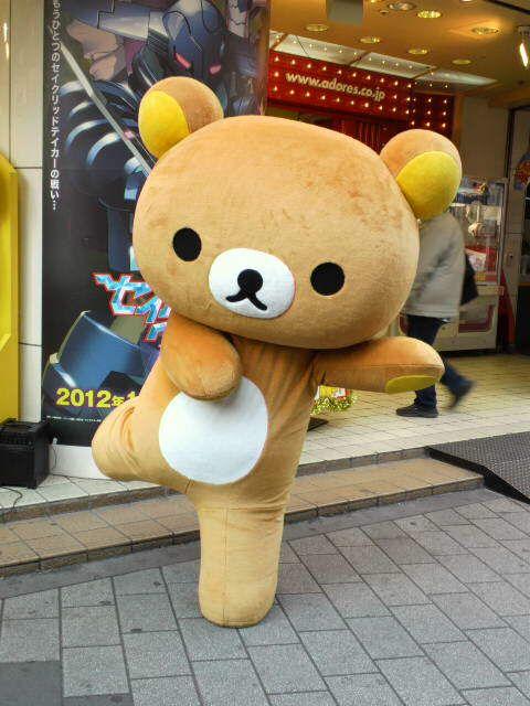 Rilakkuma life sized. It's so fluffy I'm gonna die!!! :D