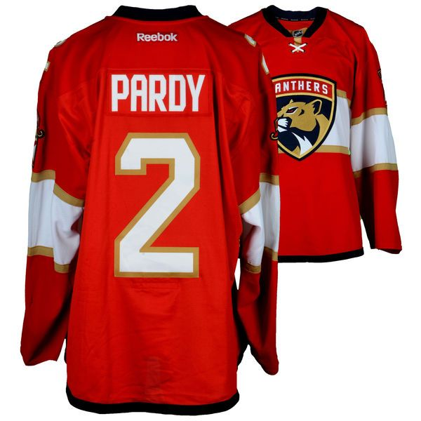 Adam Pardy Florida Panthers Fanatics Authentic Player-Issued #2 Red Jersey From The 2016-17 NHL Season - Size 58 - $249.99