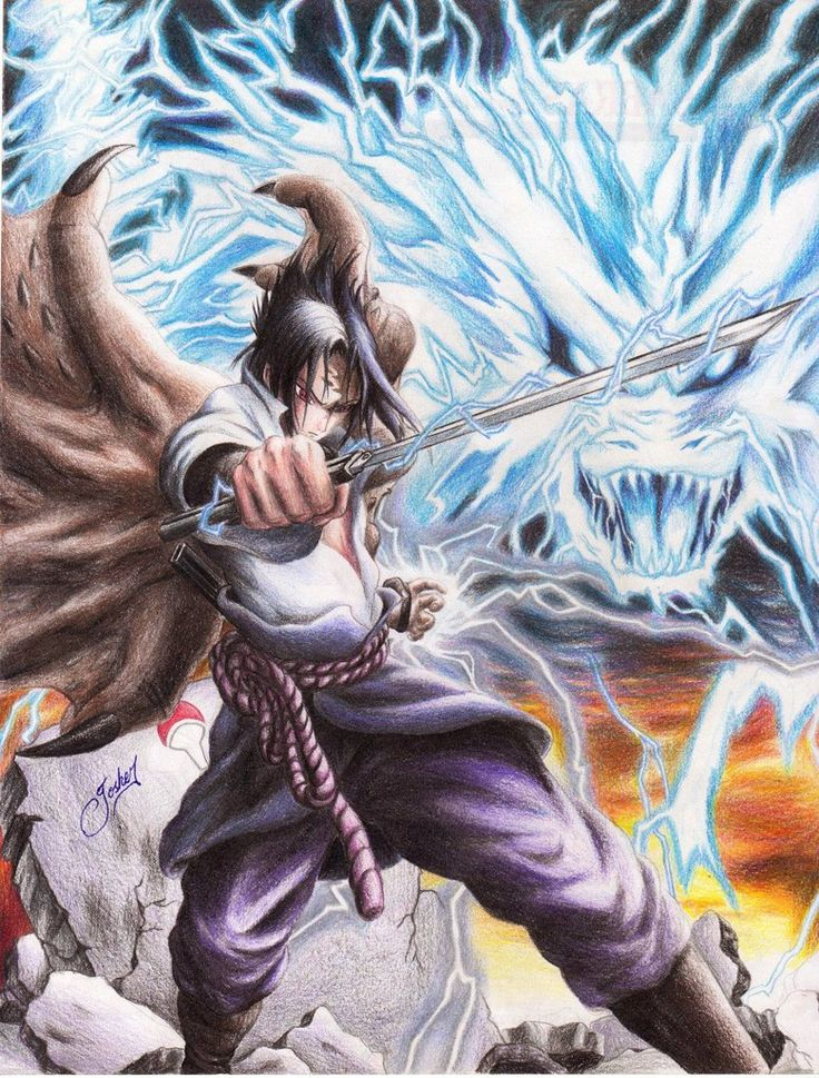 sasuke chidori kirin naruto friends and foe