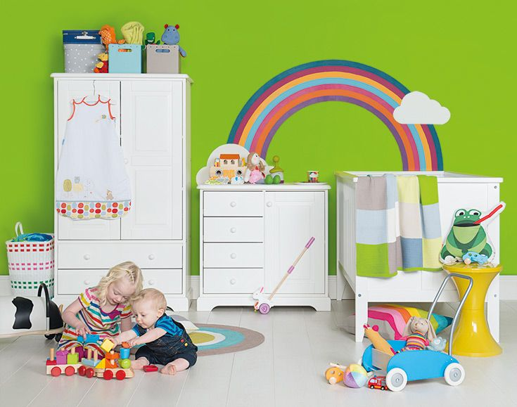 Bright, colourful & fun. Style your own rainbow nursery.Nurseries Inspiration, Teenagers Bedrooms, Future Children, Colours Fun, Rainbows Nurseries, Nurseries Furniture, Nurseries Ideas