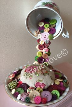 Floating mixed media china tea cup  flowing by restoredwithlove4u