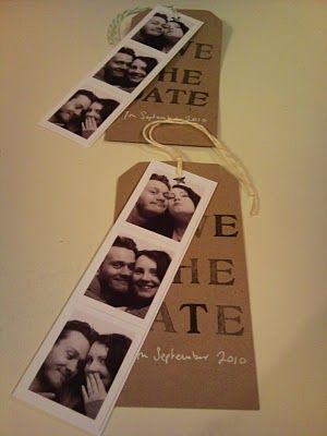 Like these homemade save the date cards