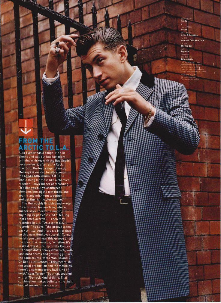 Alex Turner: frontman of Arctic Monkeys.