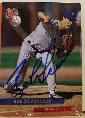 Bob Scanlan Chicago Cubs Signed 1993 Ultra card #22 - Autographed MLB Baseball Trading Cards