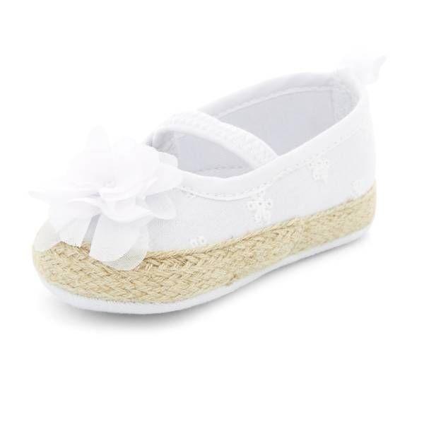 Espadrilles en textiles blanc Bébé fille Kiabi