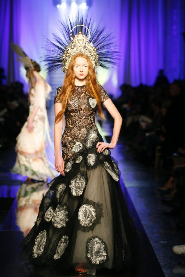 "Lily Cole models the ""Dolores"" gown for the SS 2007 Haute Couture . the Virgins (or Madonnas) collection."