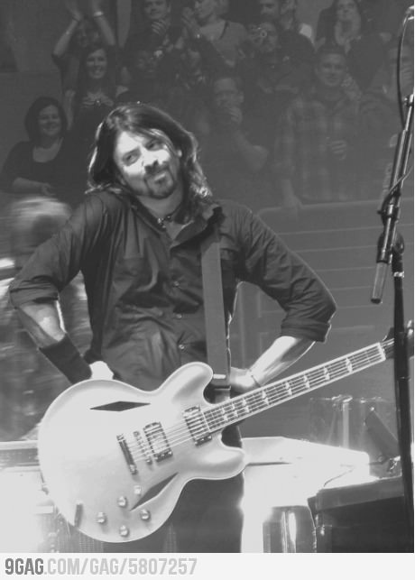 Oh you! Dave Grohl   My most favorite famous person