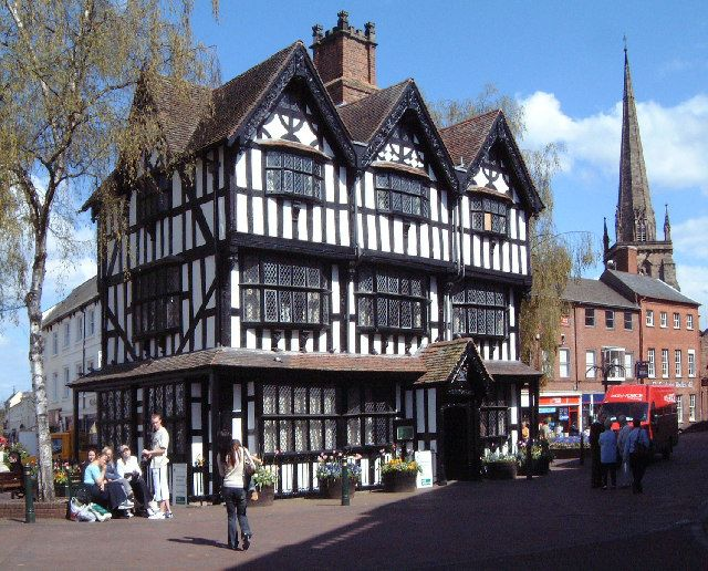 Hereford Town Centre.  This is The Old House, High Town which is now a museum.  Hereford sits on the river Wye and is home to a beautiful cathedral.