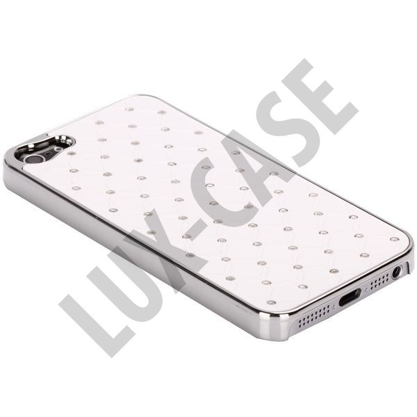 Victoria Bling (Hvid) iPhone 5 Cover.  159,00 kr  http://lux-case.dk/victoria-bling-hvid-iphone-5-cover.html