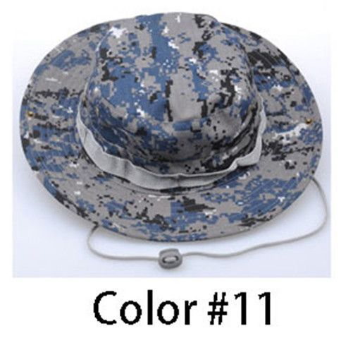 REEBOW Tactical Boonie Hat Military Men Women Outdoor Travel Camouflage Bucket Hat Army Training Mountaineering Army Train