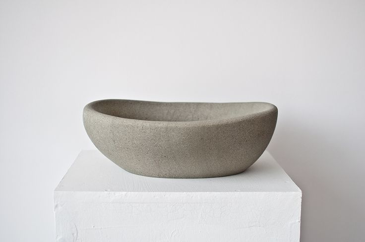 Hand made sandstone bowl no. 002 Dimentions: 36x30x12 cm, weight:15,1 kg.