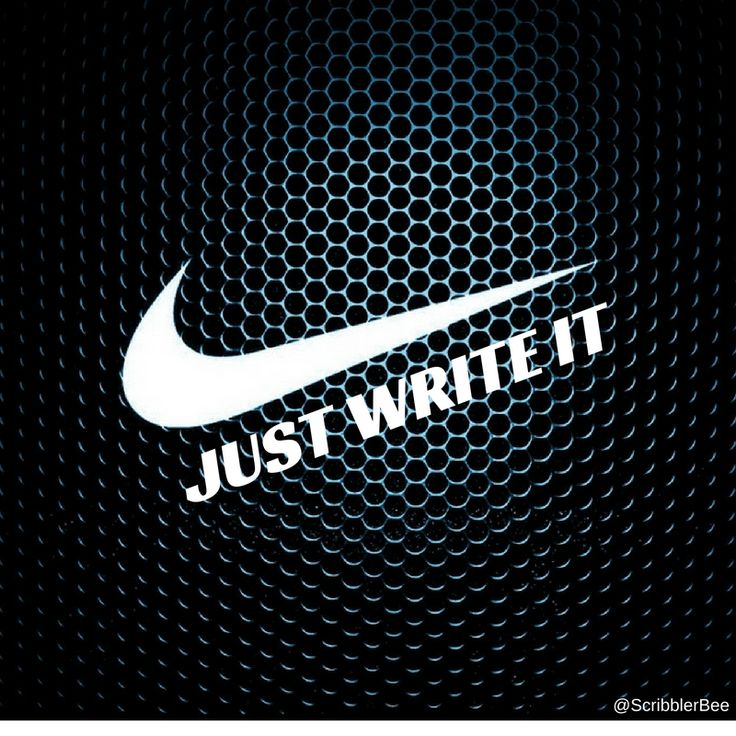 Just Write It - Nike style https://www.tumblr.com/blog/scribblerbee-things