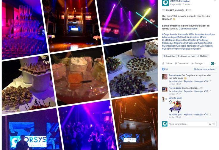 Cohésion d'équipe – Evénements internes - Célébrations / Soirée Orsys 2016 Découvrez nos offres d'emploi : http://www.orsys.fr/?mode=recrutement