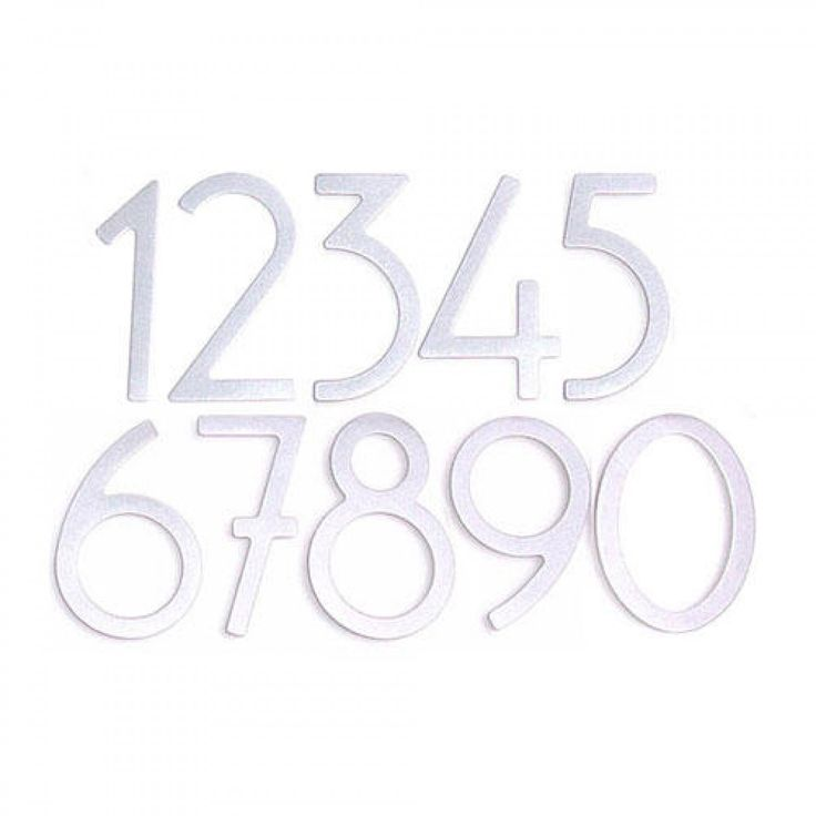 Satin Silver Contemporary House Numbers - Address Plaques and House Numbers - Outdoor