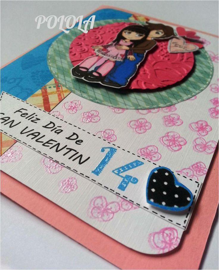Tarjeta de Amor para san valentin. Hecha a mano. Tamaño: 6,5¨x5¨ Ref: tcesv01