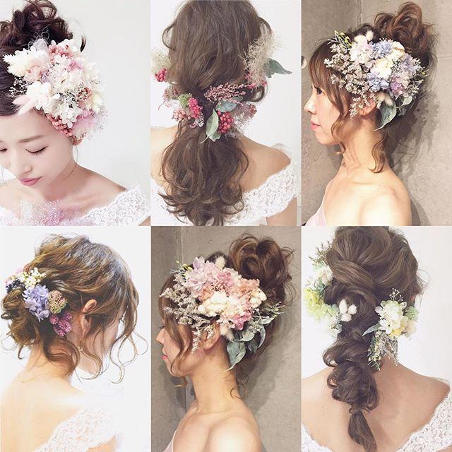最近、プリザーブドの作品増やしてます…♡ ** プリザーブドフラワーの持つ、儚げで細やかな表現が、やっぱり好き♡ プロフィールページのURLから、ストアへお越し下さい( *Ü* )۶✩⋆*. * #ウェディング#wedding#ウェディングヘア#ブライダル #bridal #ブライダルヘア #結婚式#結婚式ヘア#結婚式セット#結婚式準備#ヘアアレンジ #ヘアセット #プリザーブドフラワー #ヘッドドレス #プレ花嫁