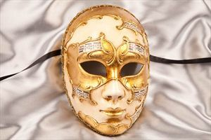Masquerade Masks - Full Face with Musical Note Detail