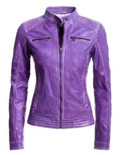 Purple Leather Jacket Womens XXS Danier Genuine Lamb Leather Moto | eBay  $200 off SALE