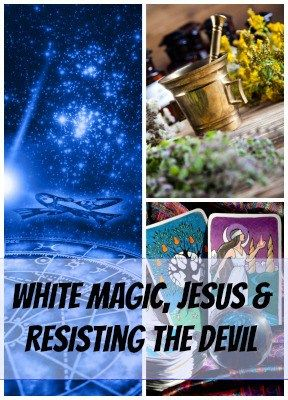"""White Magic, Jesus & Resisting the Devil"" Is there any such thing as white magic? Is it OK for Christians to read their horoscopes or study astrology or numerology? Is there anything wrong with tarot cards, cleansings, Ouija boards, and palm reading? May 13 - Soul Survival"