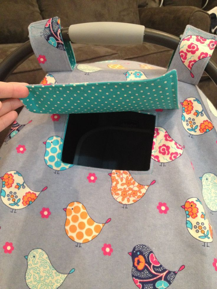DIY Car Seat Cover Tutorial! Make this adorable Car Seat Cover with this easy…