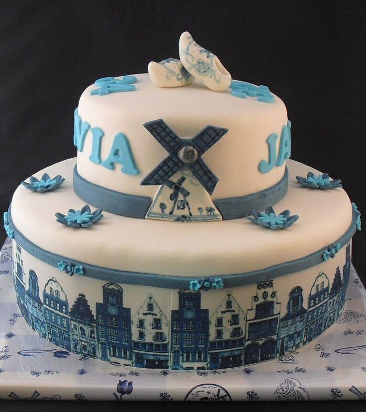 Delfst blauwe taart