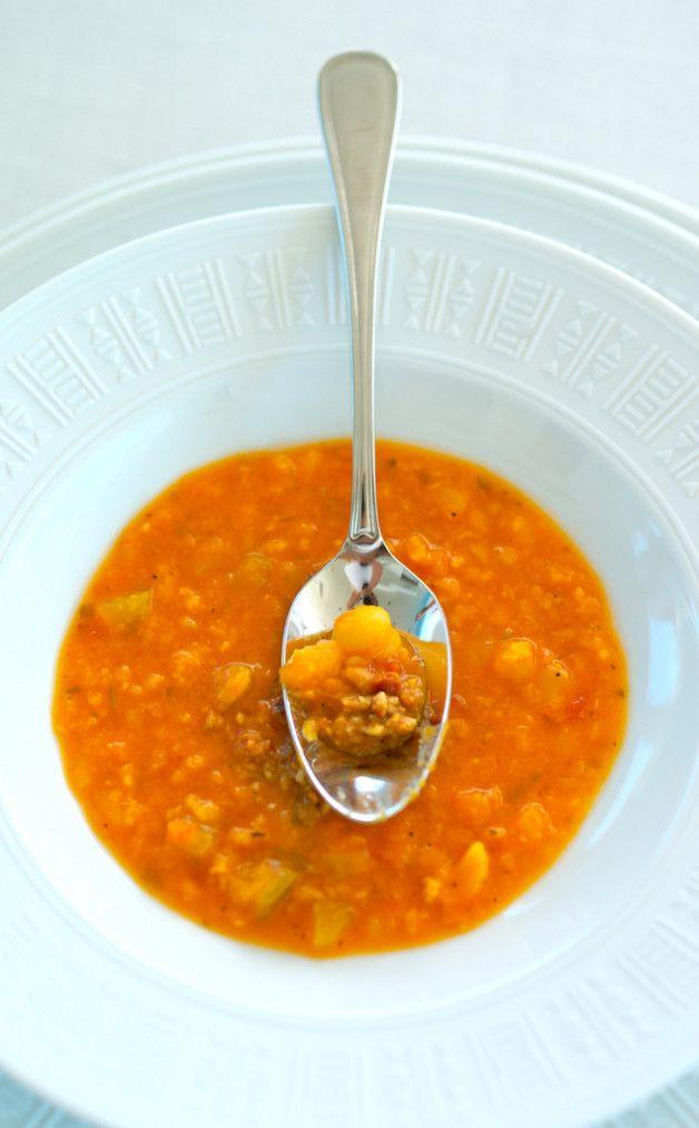 Суп из нута и красной чечевицы