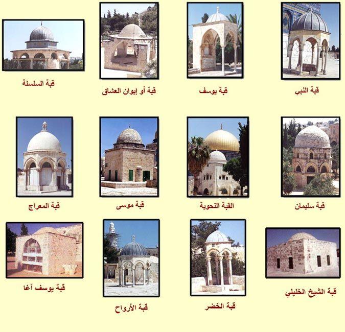 المعالم الدينية والسياحية لمدينة القدس قباب المسجد الأقصى Gallery Wall Tourism Architecture