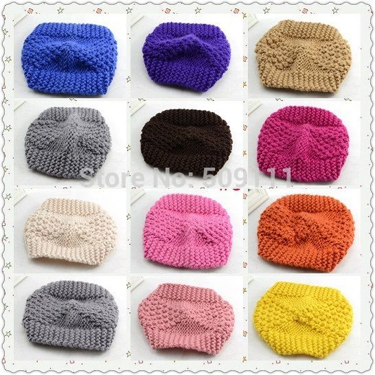 Вязание крючком ухо женщин повязка на голову тюрбан зима hairband трикотажные обернуть голову вязания крючком руки earwarmer рождественский подарок 1 шт. WH064