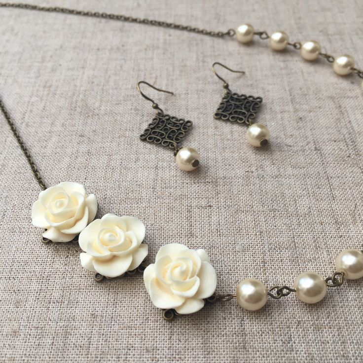 A personal favorite from my Etsy shop https://www.etsy.com/listing/232085935/czech-glass-pearl-necklace-and-earrings