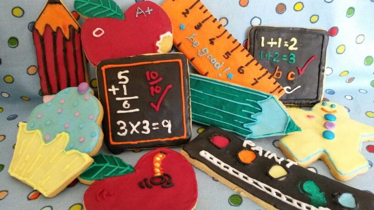 School and stationery cookies