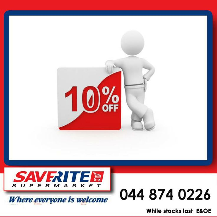 Take this opportunity to stock up on your groceries with our 10% discount on all till slips clearance sale at Saverite Supermarket, York street. #groceries #supermarket