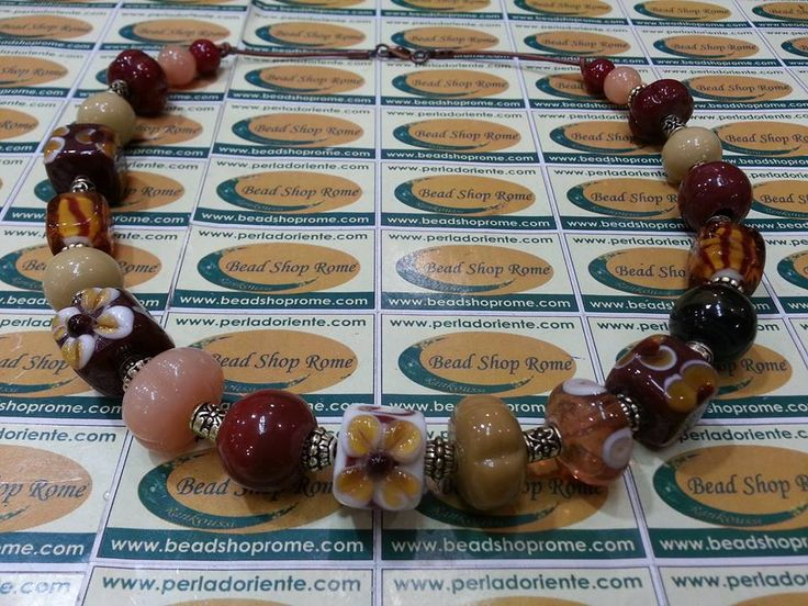 lampwork artistic glass beads by Rankoussi