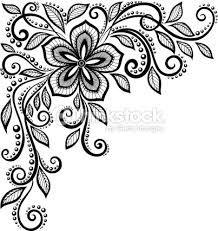 Resultado de imagem para desenho preto e branco floral