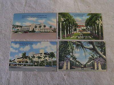 Unused 4 Vintage Hallandale Florida Gulfstream Park Horse Racing Postcards