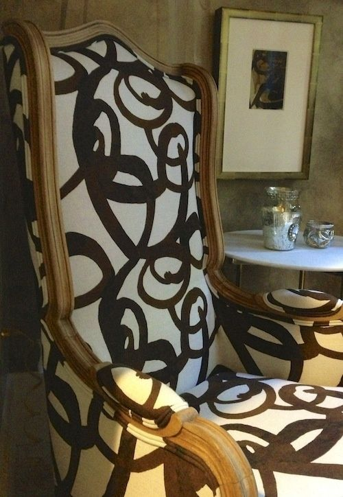 fabric by steve mckenzie - love the black/brown/white color scheme...art inspiration
