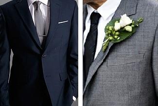 Navy groom gray groomsmen