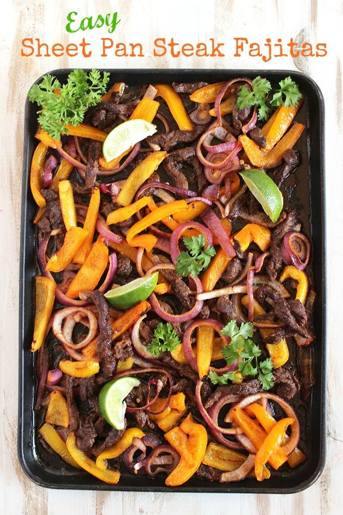 The BEST steak fajitas with less mess.  Perfect for game day or an easy weeknight dinner! | @suburbansoapbox