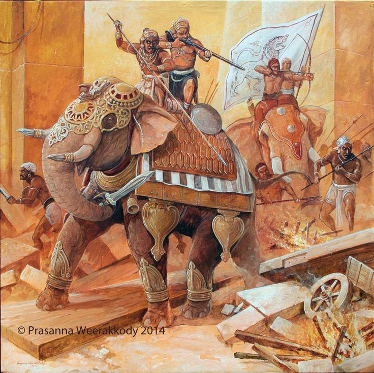 Sinhala war Elephant in battle