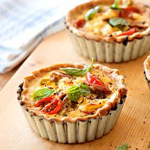 Tuna and ricotta quiche.  Yum!  nice combination of sweet and savory.  Definitely make again.