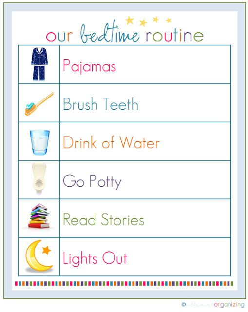 """Rantin' & Ravin': KIDS CHORE CHARTS!!! an example of a chore chart"""" bedtime routine...."""