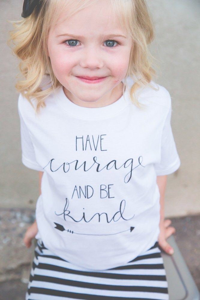 Have Courage and Be Kind shirt for kids! Inspired by the new Cinderella movie, this is the ultimate inspirational tee, perfect for your littles!  @beapparelaz #havecourageandbekind