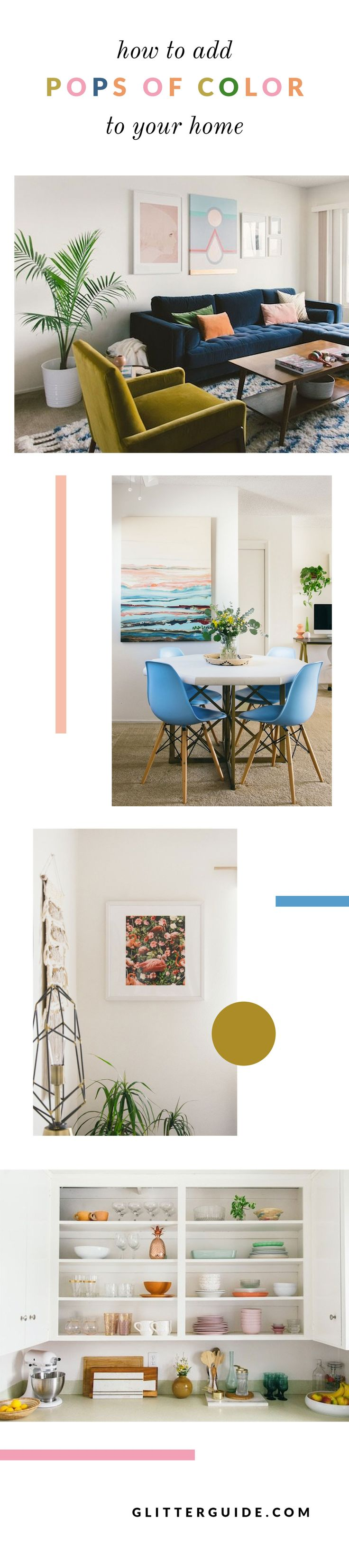 how to add pops of color to your home